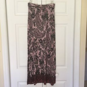 Paisley Print Maxi Skirt by Charlotte Russe
